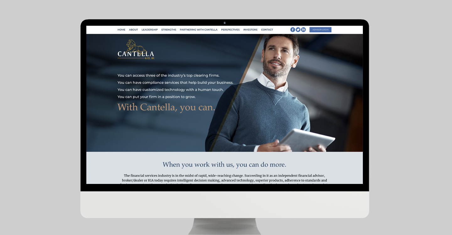 Cantella & Company website